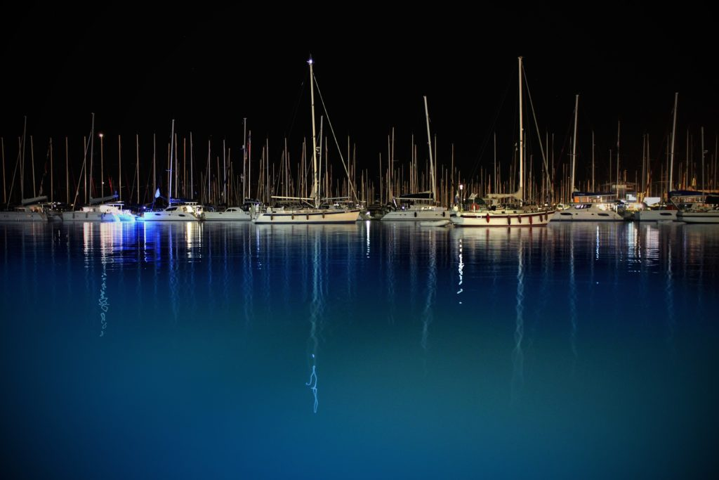 Nacht, Meer, Hafen