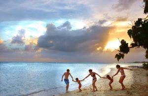 Meer, Familie, Strand