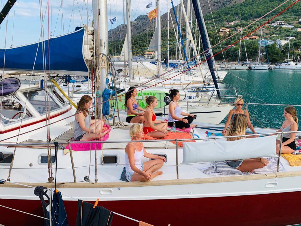 Meditation Yoga Yacht Meer
