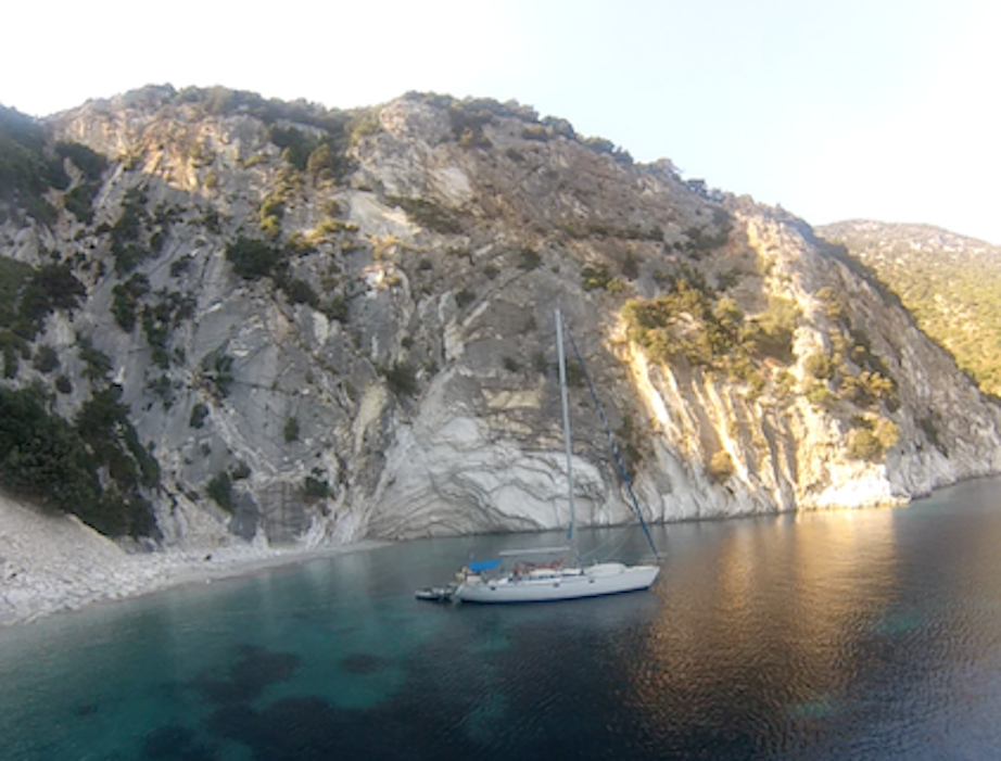 Segelschiff Meer Küste Griechenland